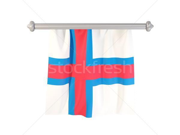 Bayrak yalıtılmış beyaz 3d illustration etiket Stok fotoğraf © MikhailMishchenko