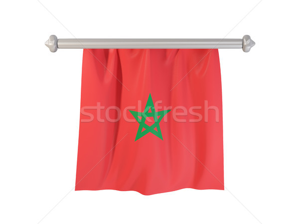 Pennant with flag of morocco Stock photo © MikhailMishchenko