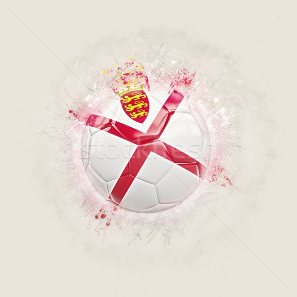 Stock photo: Grunge football with flag of jersey