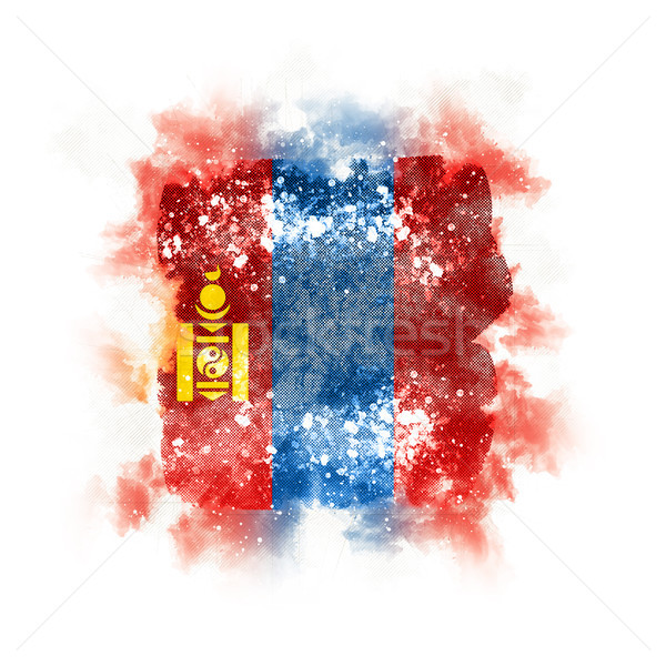 Square grunge flag of mongolia Stock photo © MikhailMishchenko