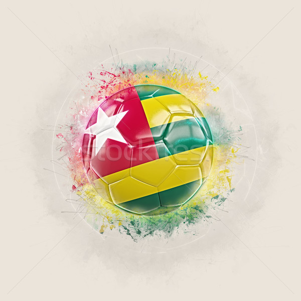 Grunge calcio bandiera Togo illustrazione 3d mondo Foto d'archivio © MikhailMishchenko