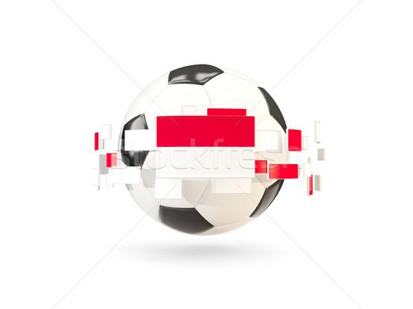 Futbol topu hat bayraklar bayrak Endonezya Stok fotoğraf © MikhailMishchenko