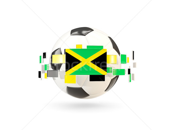 Soccer ball with line of flags. Flag of jamaica Stock photo © MikhailMishchenko