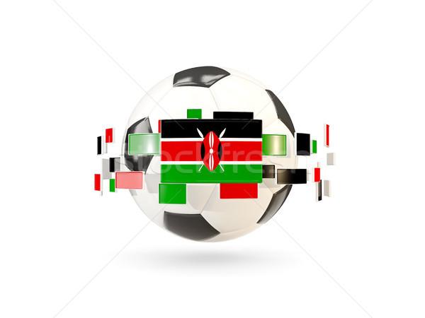 Stock fotó: Futballabda · vonal · zászlók · zászló · Kenya · lebeg