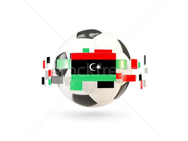 Piłka line flagi banderą Libia Zdjęcia stock © MikhailMishchenko