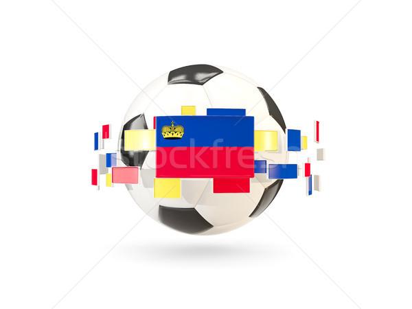 Soccer ball line bandiere bandiera Liechtenstein Foto d'archivio © MikhailMishchenko
