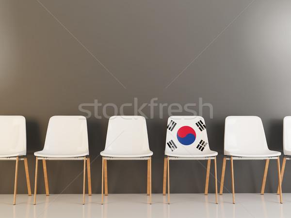 Chair with flag of south korea Stock photo © MikhailMishchenko