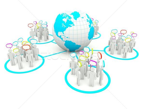 карта группа команда белый человек Сток-фото © MikhailMishchenko