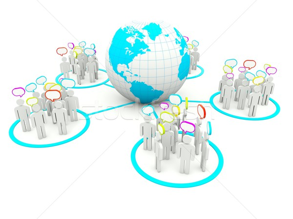 Social network mappa gruppo squadra bianco persona Foto d'archivio © MikhailMishchenko