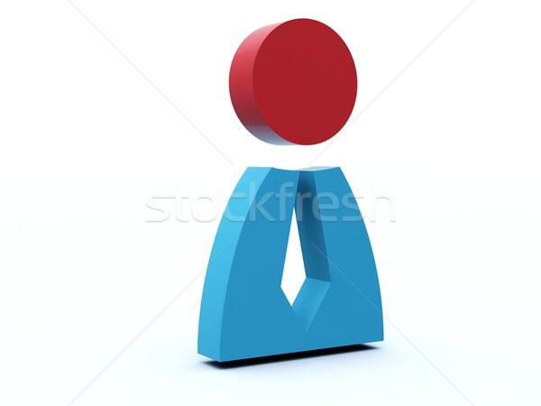 Сток-фото: человек · икона · синий · красный · интернет · контакт
