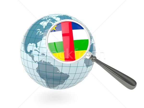 Stok fotoğraf: Bayrak · merkezi · Afrika · cumhuriyet · mavi