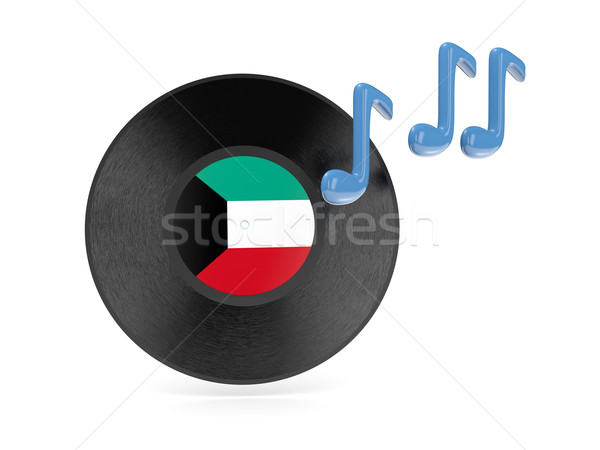 виниловых диск флаг Кувейт изолированный белый Сток-фото © MikhailMishchenko
