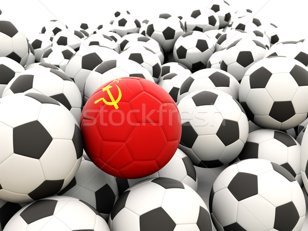 Football with flag of ussr Stock photo © MikhailMishchenko