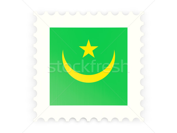 Postage stamp icon of mauritania Stock photo © MikhailMishchenko