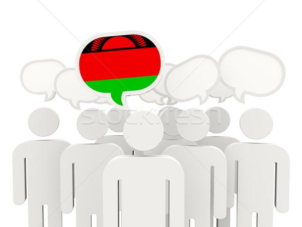люди флаг Малави изолированный белый заседание Сток-фото © MikhailMishchenko