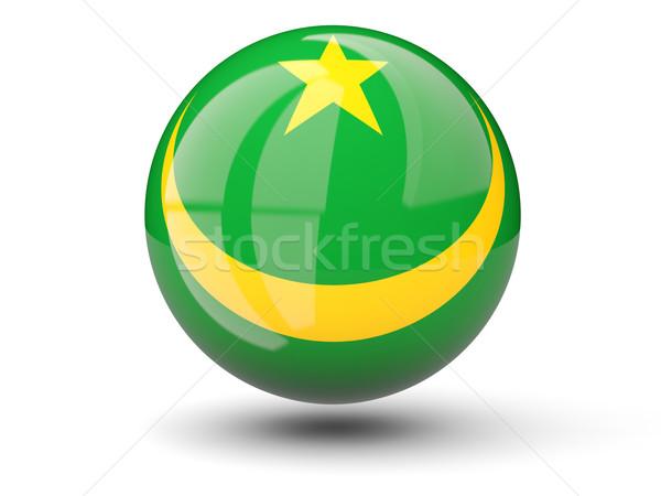 Round icon of flag of mauritania Stock photo © MikhailMishchenko