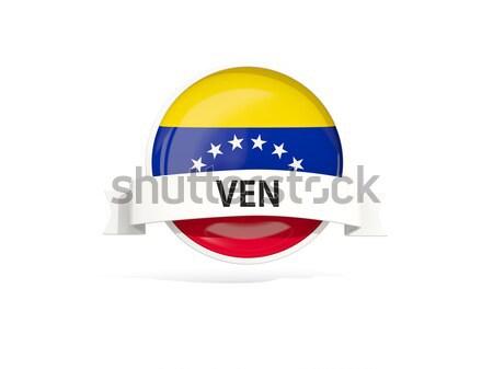 Ikon zászló Venezuela izolált fehér utazás Stock fotó © MikhailMishchenko