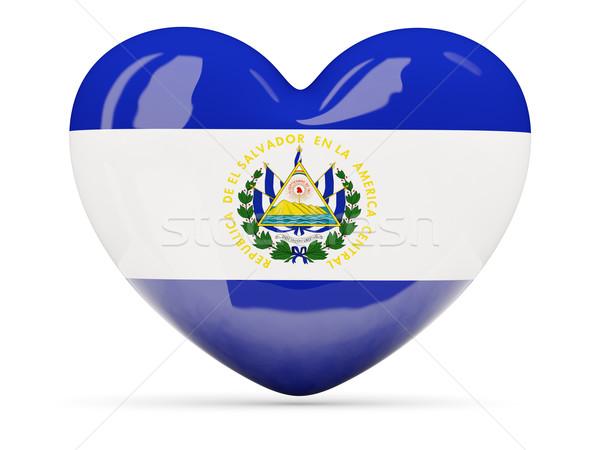 Coração ícone bandeira El Salvador isolado Foto stock © MikhailMishchenko