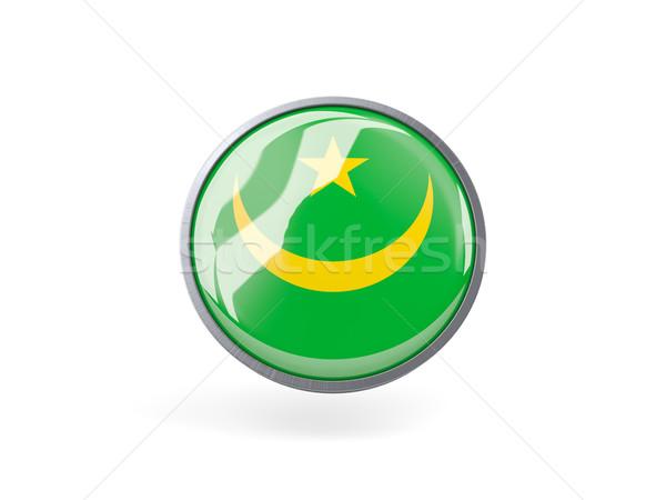 Round icon with flag of mauritania Stock photo © MikhailMishchenko