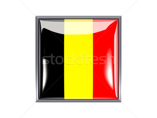 Square icon with flag of belgium Stock photo © MikhailMishchenko