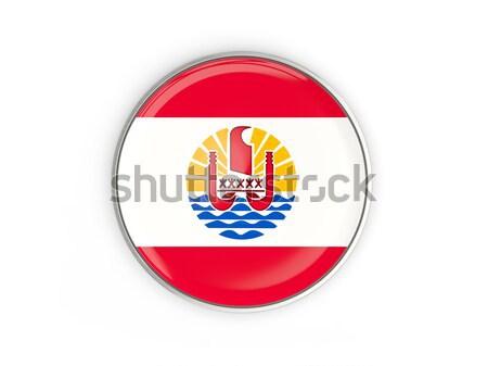 Stok fotoğraf: Düğme · bayrak · fransız · polinezya · Metal · çerçeve