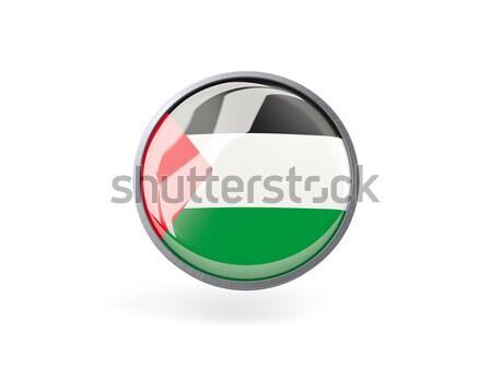 Round icon with flag of palestinian territory Stock photo © MikhailMishchenko