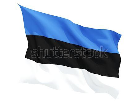 Vlag Estland geïsoleerd witte Stockfoto © MikhailMishchenko