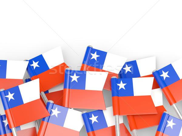 Zászló tő Chile izolált fehér világ Stock fotó © MikhailMishchenko