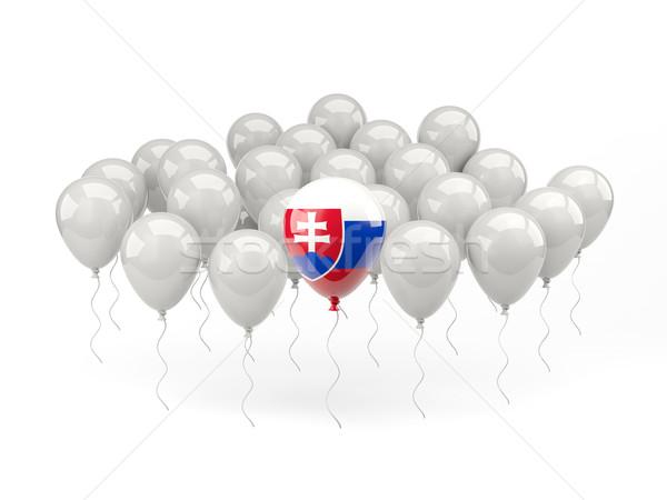 Air balloons with flag of slovakia Stock photo © MikhailMishchenko