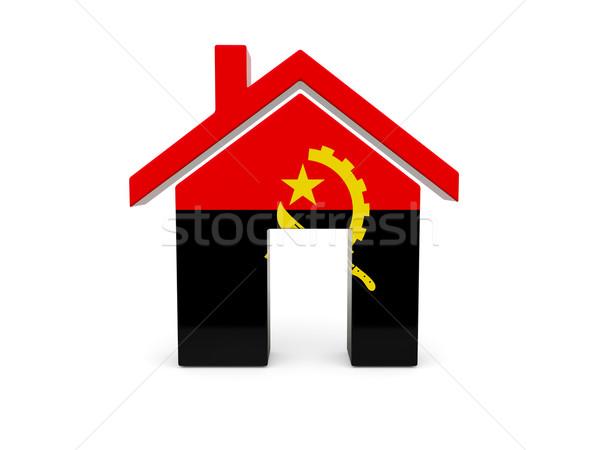 домой флаг Ангола изолированный белый поиск Сток-фото © MikhailMishchenko