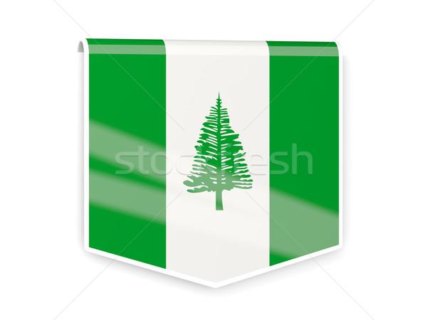 Flag label of norfolk island Stock photo © MikhailMishchenko