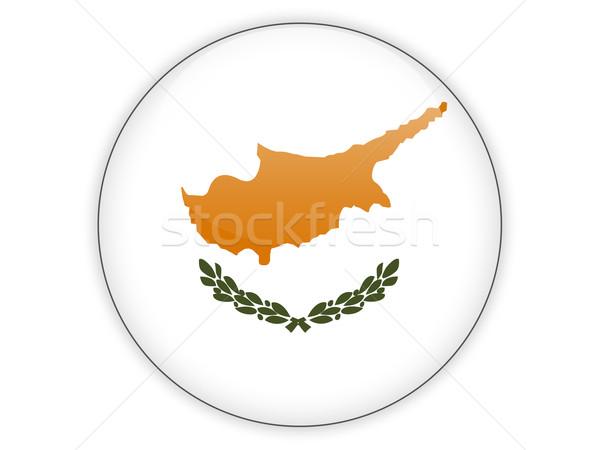 Icon vlag Cyprus geïsoleerd witte reizen Stockfoto © MikhailMishchenko