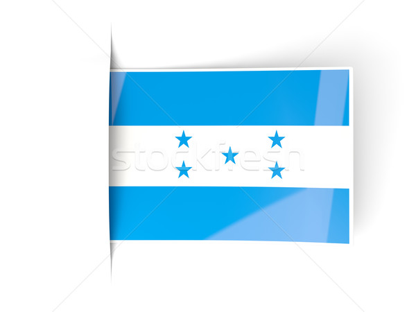 Praça etiqueta bandeira Honduras isolado branco Foto stock © MikhailMishchenko