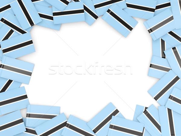 Frame vlag Botswana geïsoleerd witte Stockfoto © MikhailMishchenko