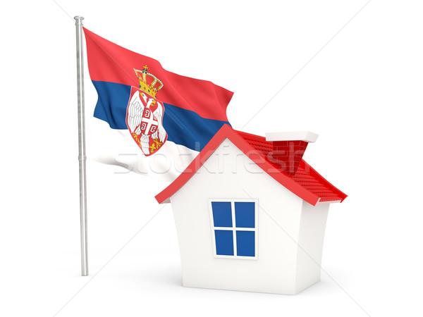 House with flag of serbia Stock photo © MikhailMishchenko