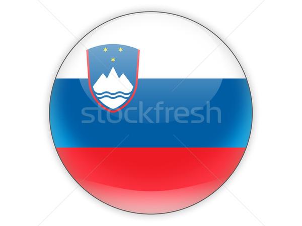 Icona bandiera Slovenia isolato bianco segno Foto d'archivio © MikhailMishchenko