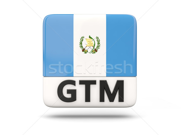 Praça ícone bandeira Guatemala iso código Foto stock © MikhailMishchenko