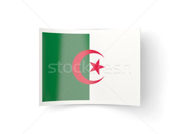 Bent icon with flag of algeria Stock photo © MikhailMishchenko