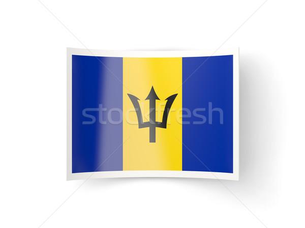 икона флаг Барбадос изолированный белый стране Сток-фото © MikhailMishchenko