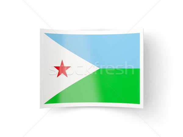 икона флаг Джибути изолированный белый стране Сток-фото © MikhailMishchenko