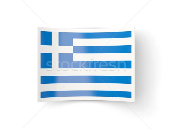 Bent icon with flag of greece Stock photo © MikhailMishchenko
