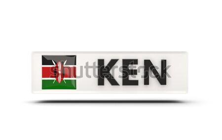 Stock fotó: Szeretet · Kenya · felirat · izolált · fehér · szív
