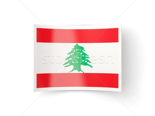 икона флаг Ливан изолированный белый стране Сток-фото © MikhailMishchenko