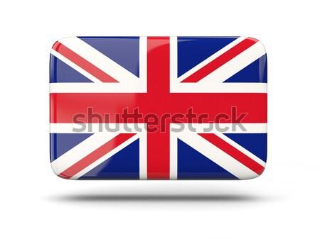 Kare ikon bayrak Büyük Britanya gölge imzalamak Stok fotoğraf © MikhailMishchenko