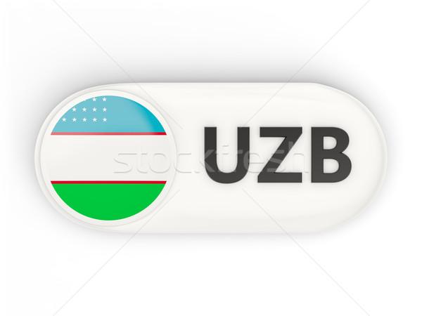 Ikon zászló Üzbegisztán iso kód vidék Stock fotó © MikhailMishchenko