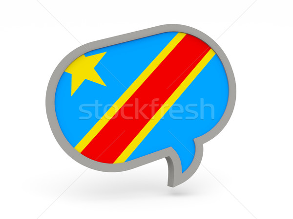 Chat icon with flag of democratic republic of the congo Stock photo © MikhailMishchenko