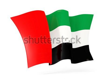 Bandeira Kuweit ilustração 3d isolado branco Foto stock © MikhailMishchenko