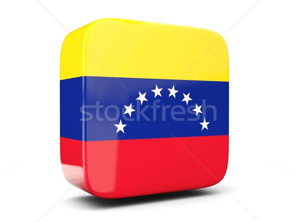Square icon with flag of venezuela square. 3D illustration Stock photo © MikhailMishchenko