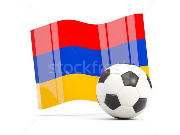 футбола флаг изолированный белый 3d иллюстрации Сток-фото © MikhailMishchenko