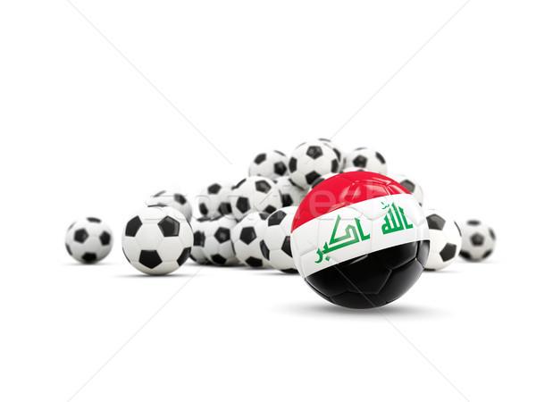 Football with flag of iraq isolated on white Stock photo © MikhailMishchenko